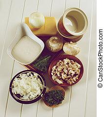 Ingredients of Mushroom Julienne