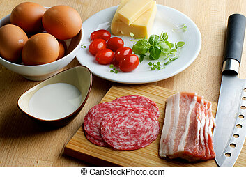 Ingredients of Omelet