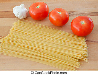 Ingredients to make a delicious plate of pasta