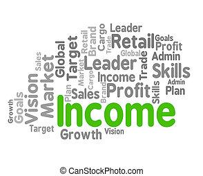 ingresos, palabra, exposiciones, rentas, ganancia, y, earns