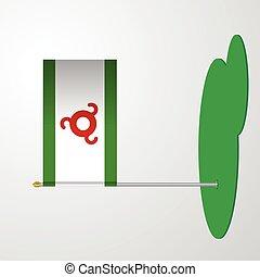 Ingushetia Flag Pole