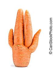 inhabituel, carottes