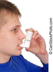 inhalador, adolescente