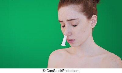 inhalation, nez, aide, crosse, runnynose.