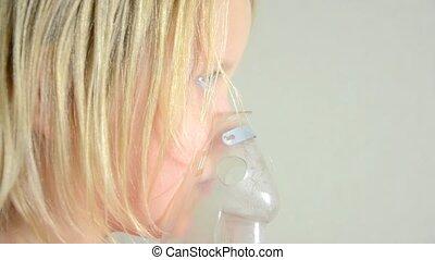 inhalation, procédure, enfant