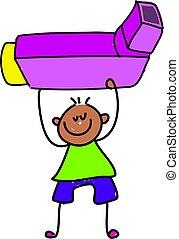 inhaler kid - little boy holding asthma inhaler - toddler...