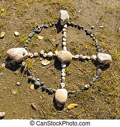 inheemse amerikaan, geneeskunde, wiel, of, heilig, hoepel