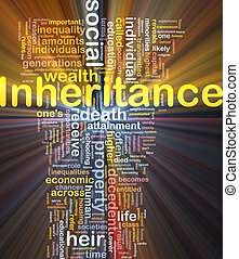 Inheritance background concept glowing - Background concept...