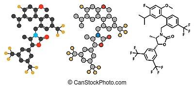 inhibitor, cetp, (cholesterylester, anacetrapib, hypercholesterolemia, molecule., drogue, traitement, protein), transfert, élevé, cholestérol, levels.