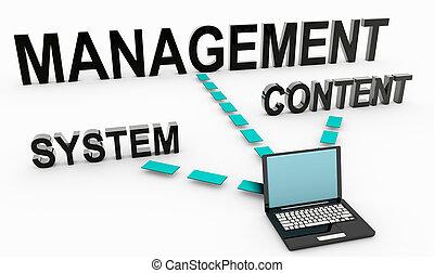 inhoud, management, systeem