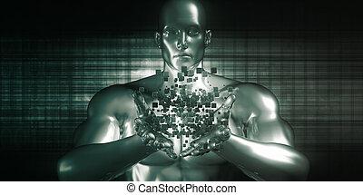 inhoud, revolutie, digitale