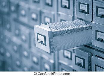 inhoudsopgave, toned afbeelding, bibliotheek, archief, of, kaart