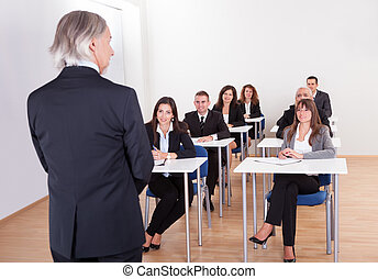 Inhouse business training in a corporation