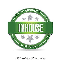 inhouse seal stamp illustration design