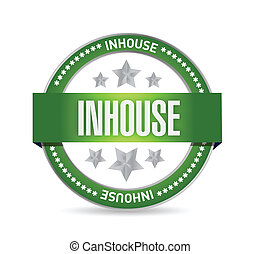 inhouse seal stamp illustration design
