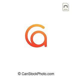 initial AC, CA, A, C Logo template vector illustration