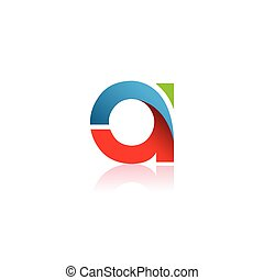 Initial letter A colorful logo template design