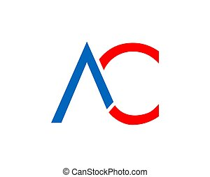 Initial Letter AC Logo Template Design