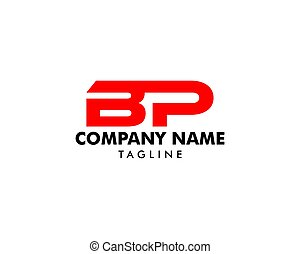 Initial Letter BP Logo Template Design