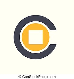 Initial Letter C Coin Money Logo - Initial letter C combined...