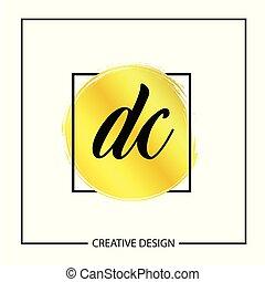 Initial Letter DC Logo Template Design Vector Illustration