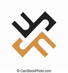 Initial letter fx logo or xf logo vector design template