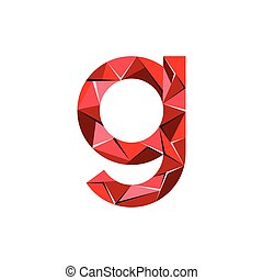 initial letter g abstract triangle logo vector