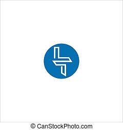 Initial letter lt logo or tl logo vector design template