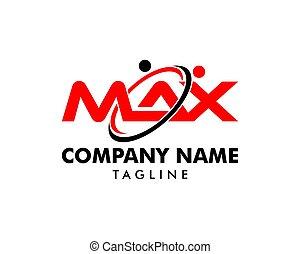 Initial Letter Max Design Logo