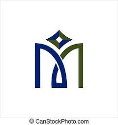 Initial letter mi logo or im logo vector design template
