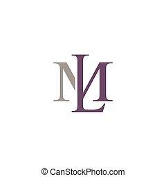 initial letter ML logo vector