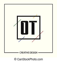 Initial Letter OT Logo Template Design Vector Illustration
