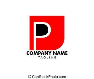 Initial Letter P Logo Template Design