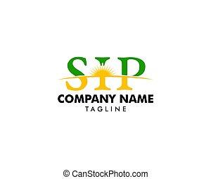 Initial Letter SIP Logo Template Design