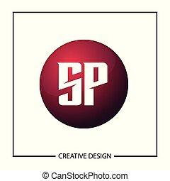 Initial Letter SP Logo Template Design Vector Illustration