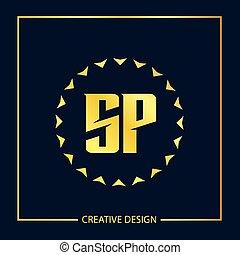 Initial letter SP Logo Template Vector Design