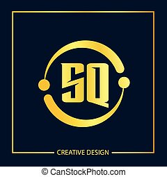 Initial letter SQ Logo Template Vector Design