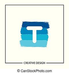 Initial Letter T Logo Template Vector Design