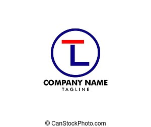 Initial Letter TL Logo Icon Design Template