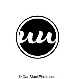 initial letter uu logo circle with ring