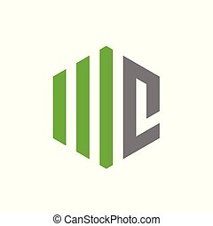 Initial Letter WC or MC, Vector Logo Design.