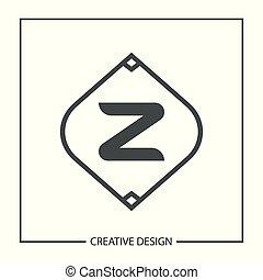 Initial Letter Z Logo Template Vector Design