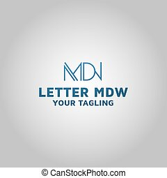 Initial MDW, Letter MDW Logo images, Stock Photos & Vectors