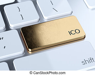 Initial Public Offering service sign button - Golden IPO,...