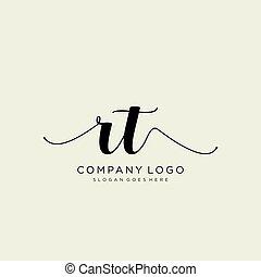 Initial handwriting logo design. Logo for fashion,photography, wedding, beauty, business company.