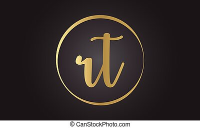 Initial rt letter logo with creative modern business typography vector template. Creative letter rt logo design.