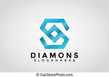 Initial S Logo. S Letter Diamond Icon Designs Vector Illustration