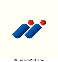 Initials I Letter Human Figure Symbol Design