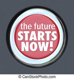 inizi, bottone, inizio, futre, automobile, nuovo, ora, tecnologia
