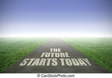 inizi, futuro, oggi